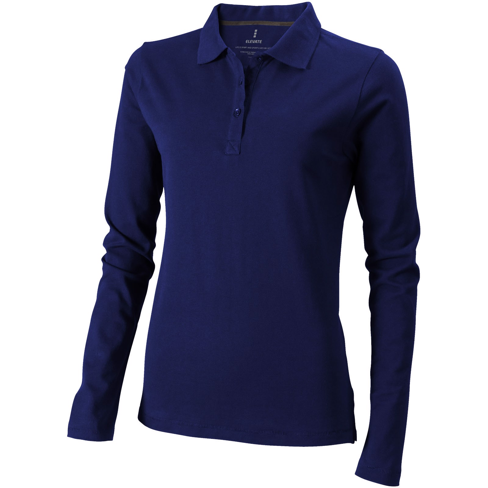 Oakville long sleeve women's polo - Navy / L
