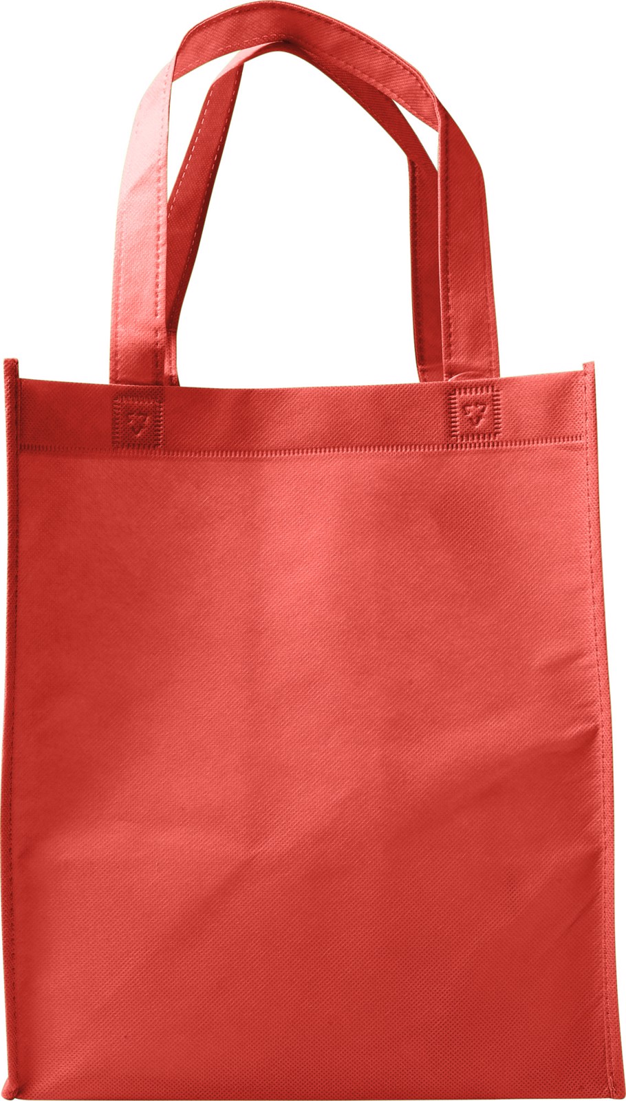 Nonwoven (80 gr/m²) shopping bag. - Red
