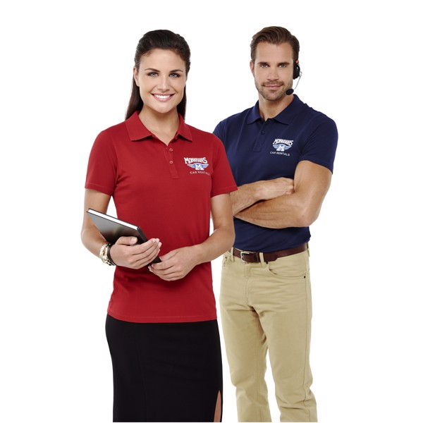 Seller short sleeve women's polo - Red / L