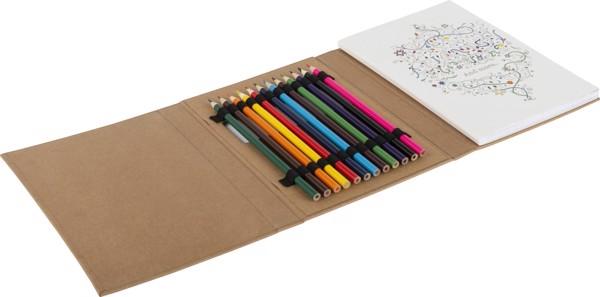 Set de dibujo para adultos, cartón