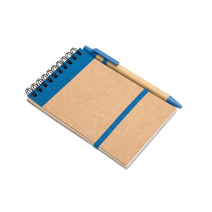 DIN A6 Notizbuch Sonora - blau