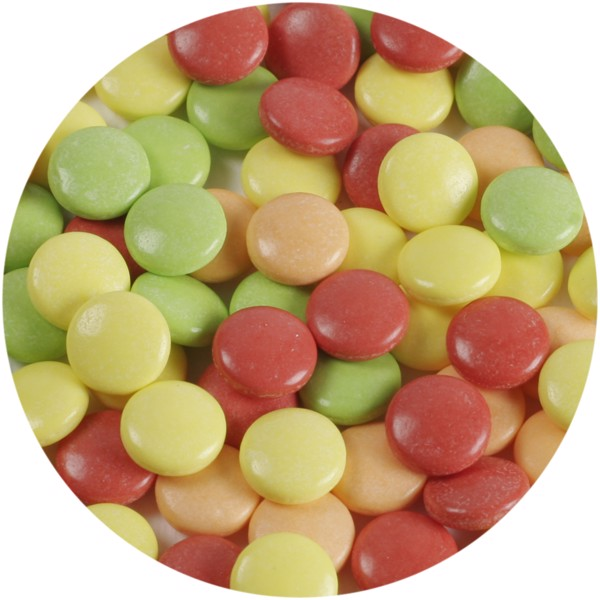 Clic clac fruit drop sweets - White