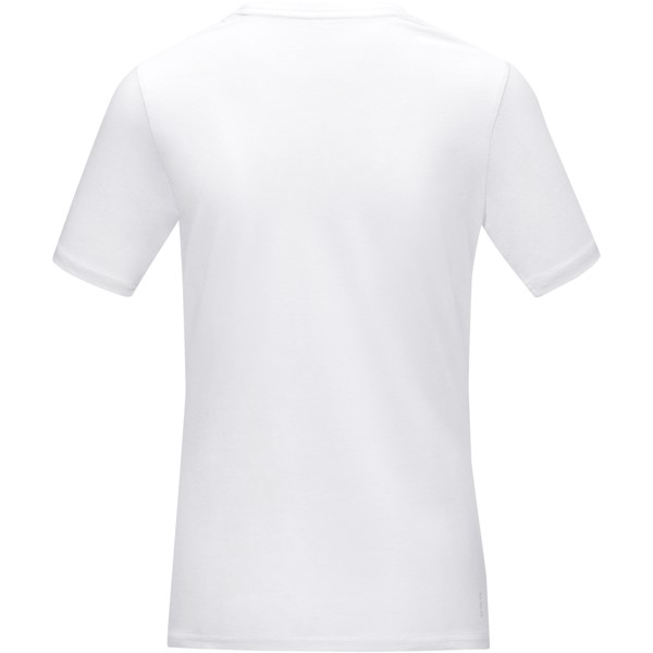 "Camiseta orgánica GOTS de manga corta para mujer ""Azurite"" - Blanco / XXL"