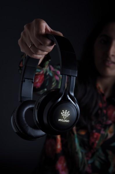 Vezeték nélküli fejhallgató világító logóval