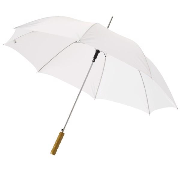 """23"""" deštník Lisa s automatickým otvíráním a dřevěnou rukojetí - Bílá"""