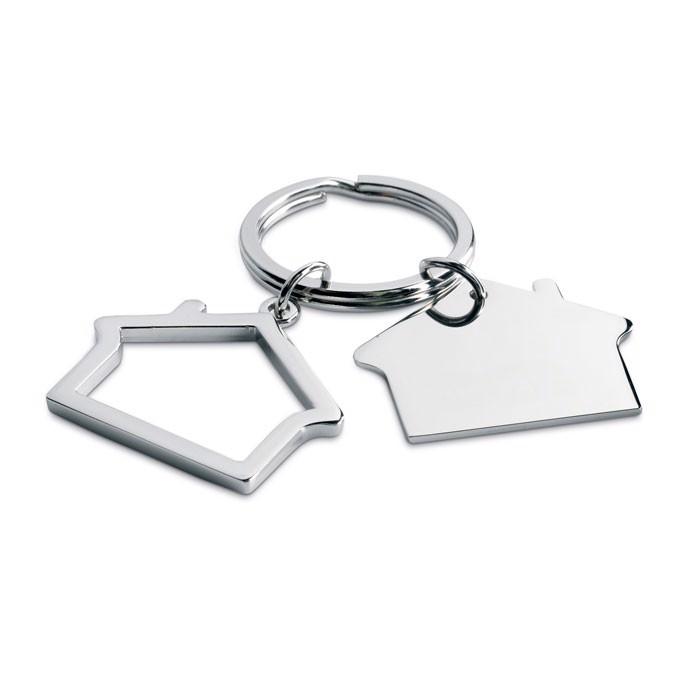 Metal key ring house shape Sniper