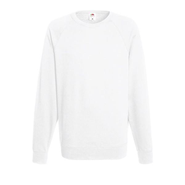 Men's Sweatshirt 240 g/m2 Lightweight Raglan 62-138-0 - White / XL