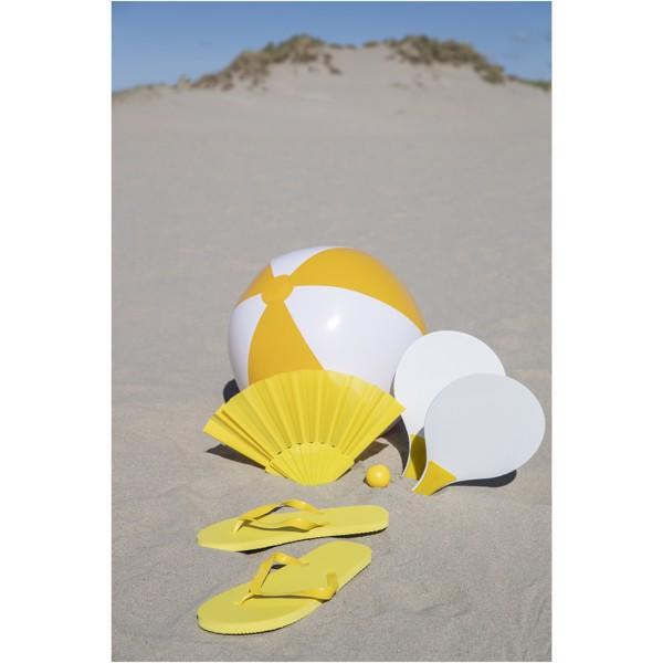 Bora solid beach ball - Orange / White