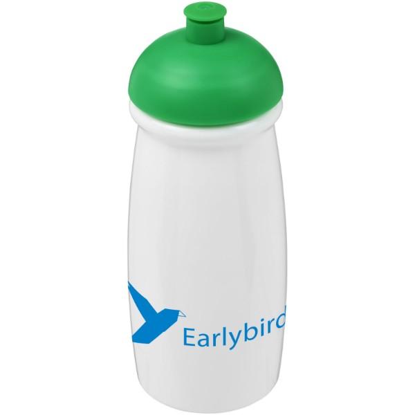 Sportovní láhev s kupolovitým víčkem H2O Pulse® 600 ml - Bílá / Zelená