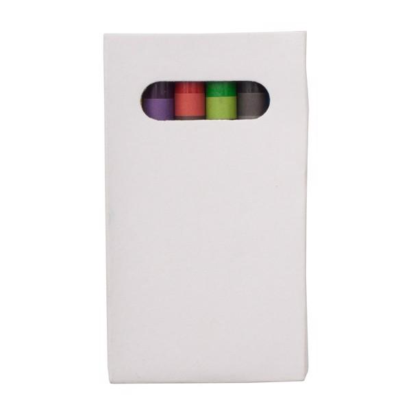 Zestaw kredek woskowych 8 cm - Biały