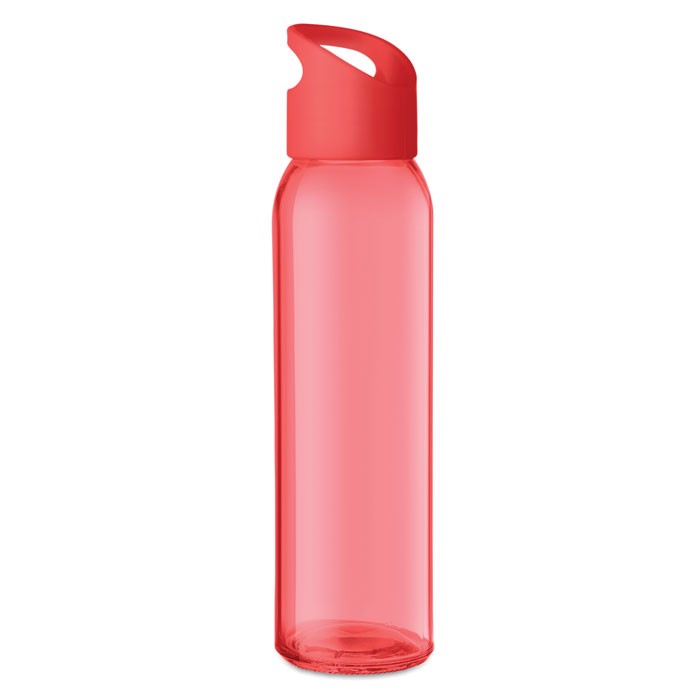 Trinkflasche Glas 470 ml Praga - rot