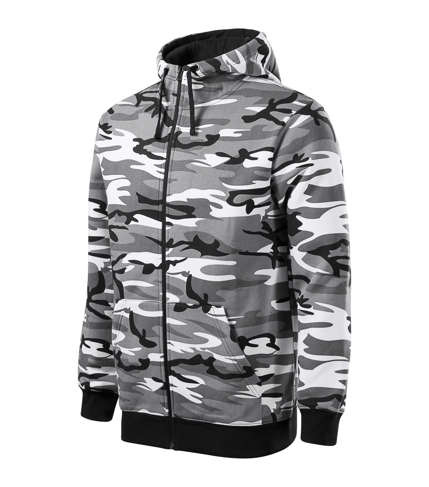 Mikina pánská Malfini Camo Zipper - Camouflage Gray / S