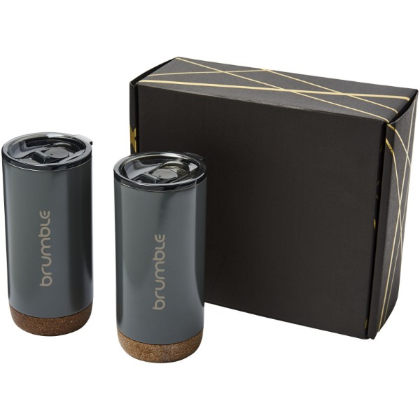 Valhalla tumbler copper vacuum insulated gift set - Grey