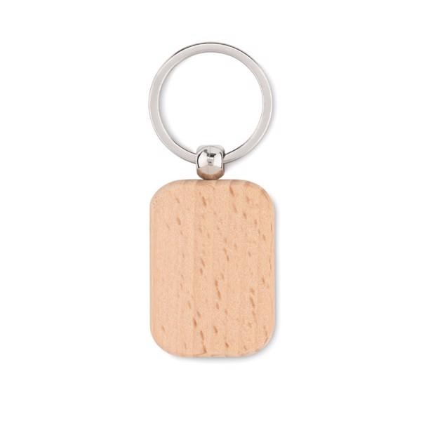 Rectangular wooden key ring Poty Wood