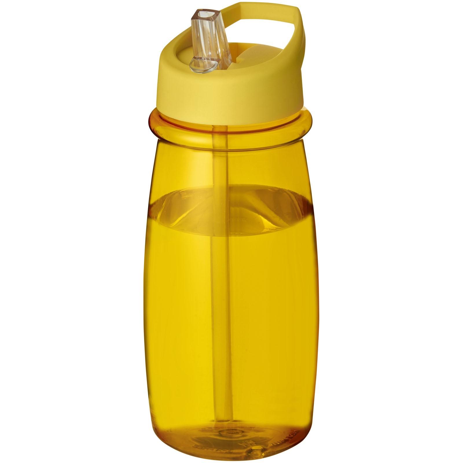 Sportovní láhev svíčkem shubičkou H2O Pulse 600 ml - Žlutá