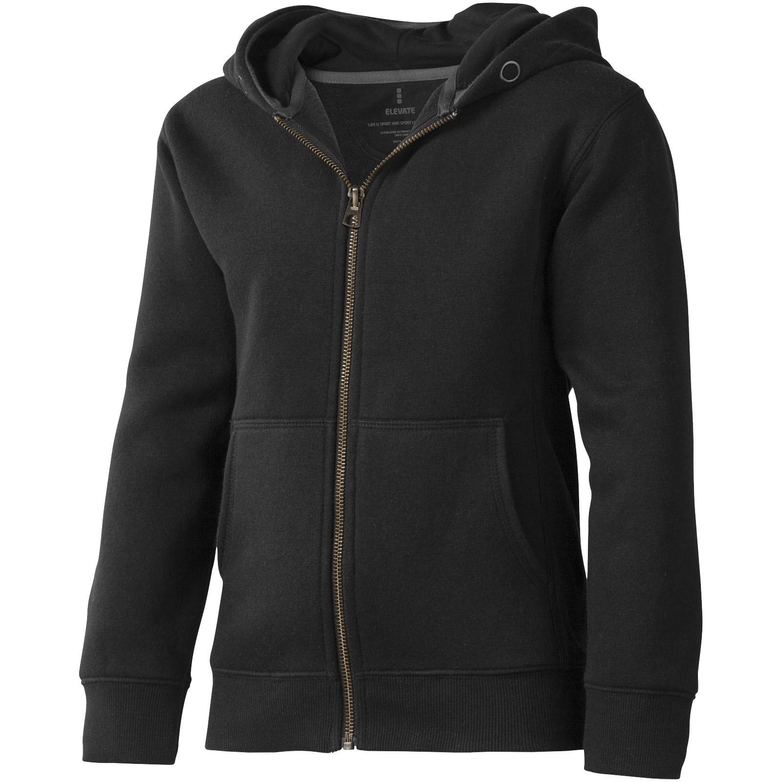 Arora celopropínací svetr na zip s kapucí pro děti - Černá / 116
