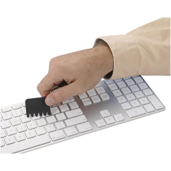 Whisk Silikon Tastaturbürste und Schlüsselanhänger - Schwarz