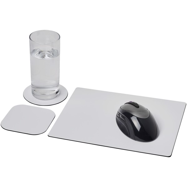 Brite-Mat® mouse mat and coaster set combo 1