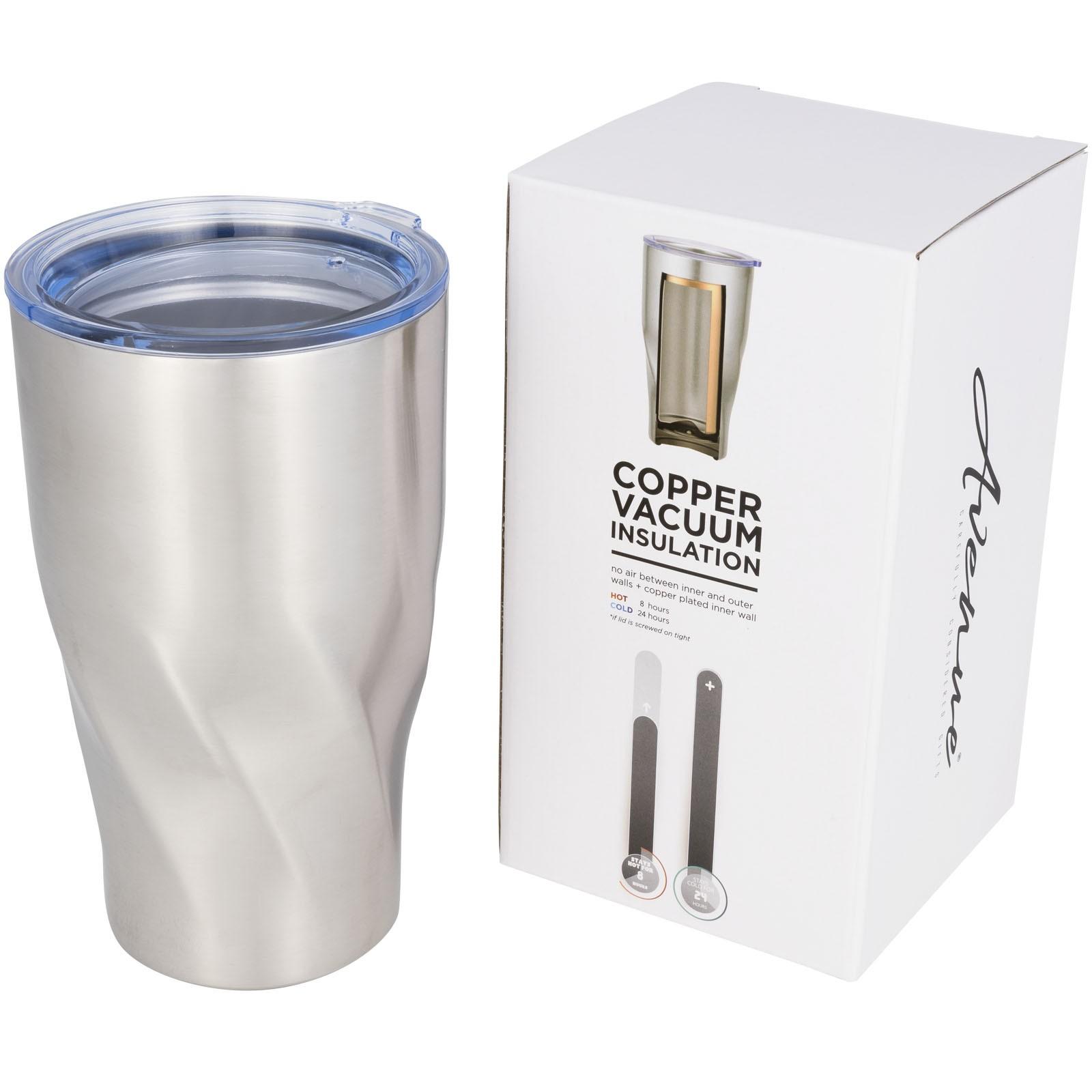 Hugo 470 ml kupfer-vakuum Isolierbecher - Silber