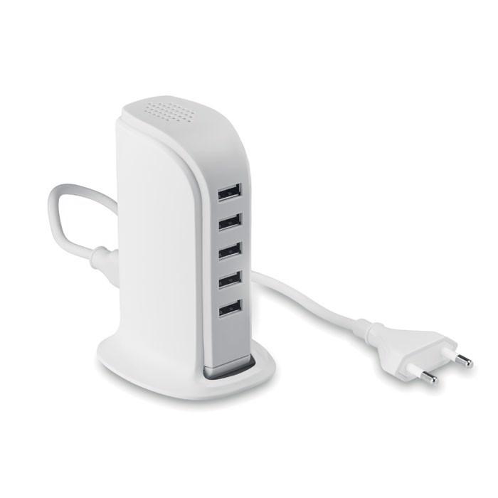 USB razdelilnik s 5 vhodi in AC napajalnikom Buildy