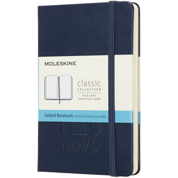 Classic PK hard cover notebook - squared - Sapphire blue