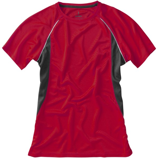 Quebec short sleeve women's cool fit t-shirt - Red / Anthracite / L