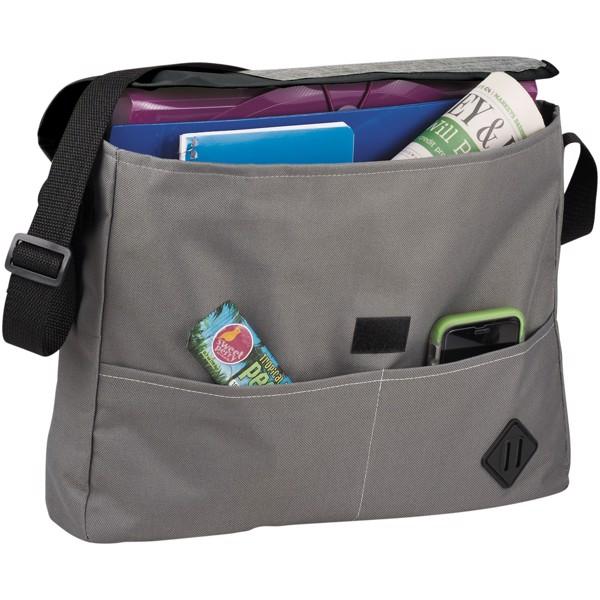 Offset messenger bag - Grey / Solid black