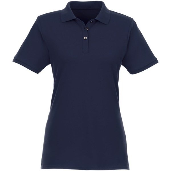 Beryl short sleeve women's GOTS organic GRS recycled polo - Navy / L