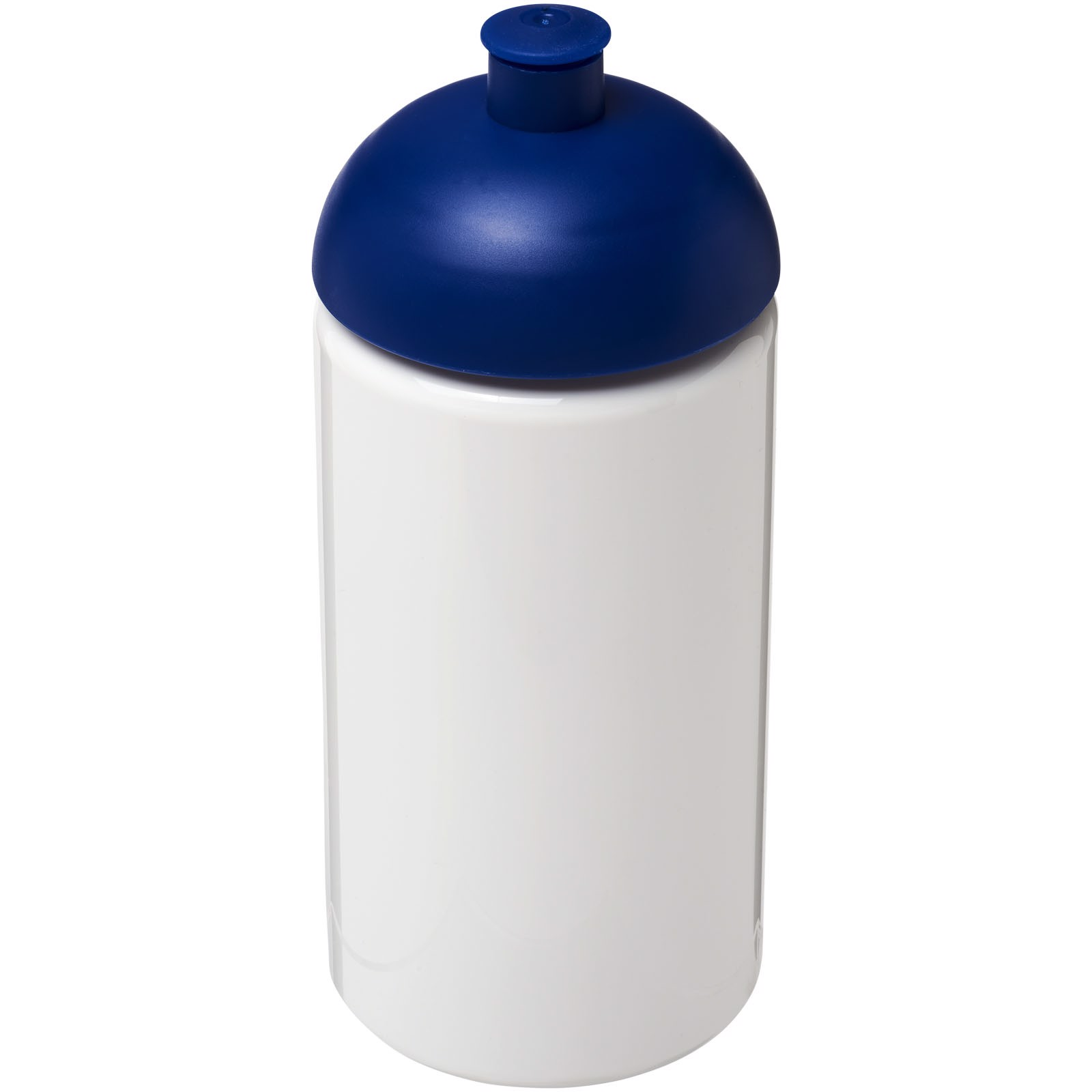 Láhev s kupolovitým víčkem H2O Bop® 500 ml - Bílá / Modrá