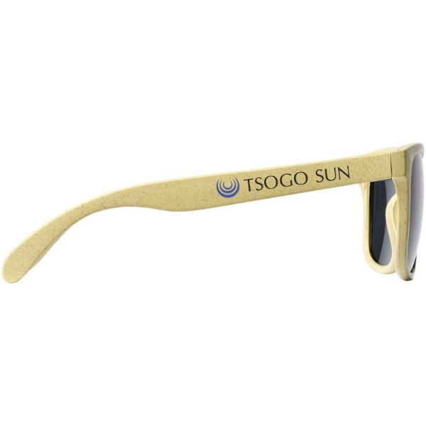 Rongo sluneční brýle z pšeničné slámy - Žlutá