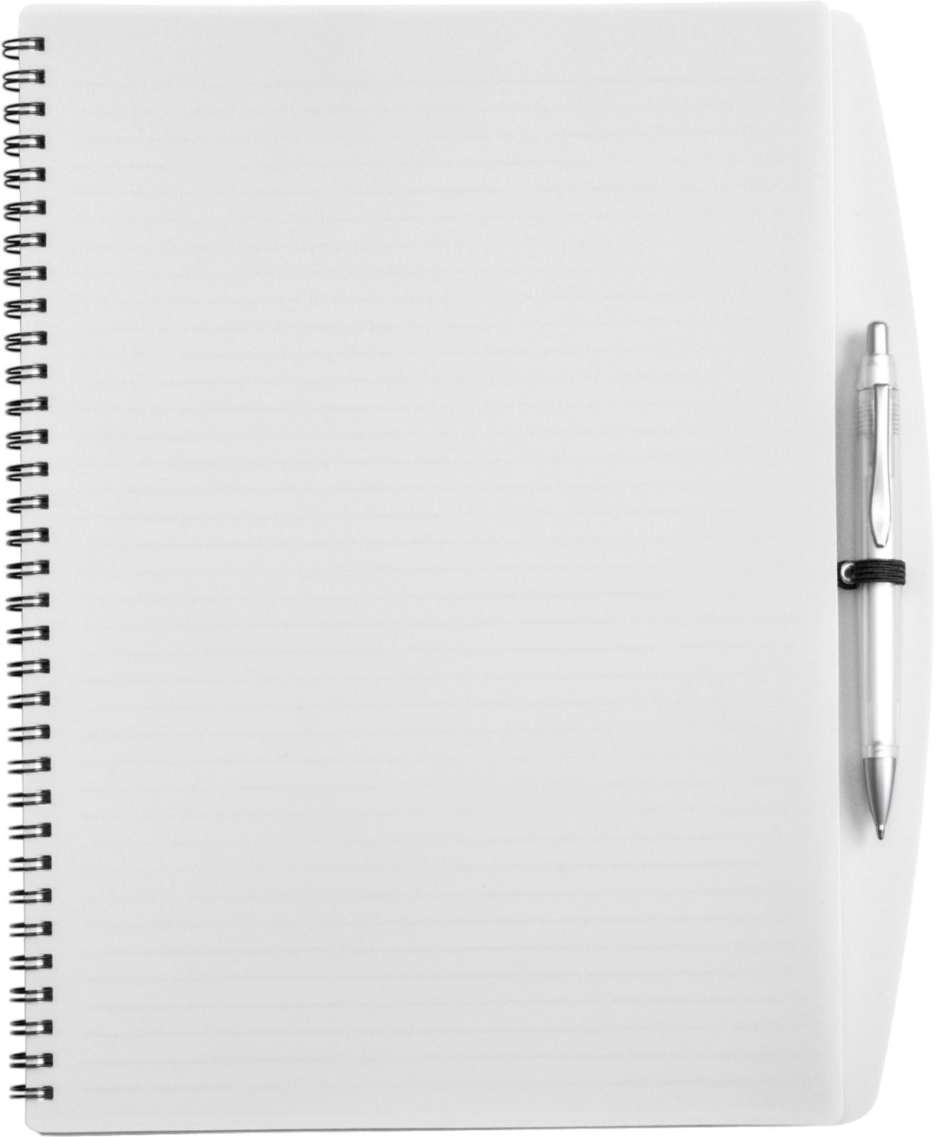 PP notebook with ballpen - White