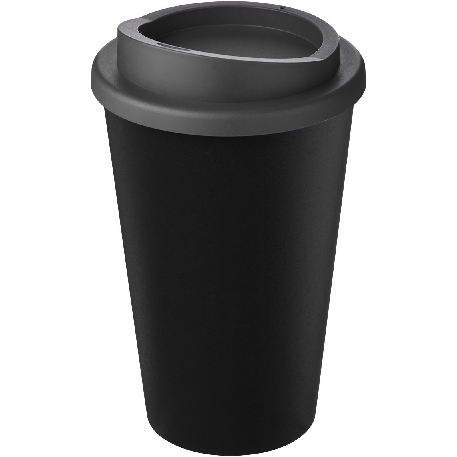 Americano Eco 350 ml recycled tumbler - Solid Black / Grey