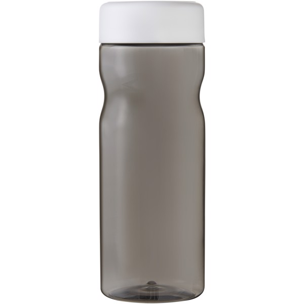 H2O Base 650 ml screw cap water bottle - Charcoal / White