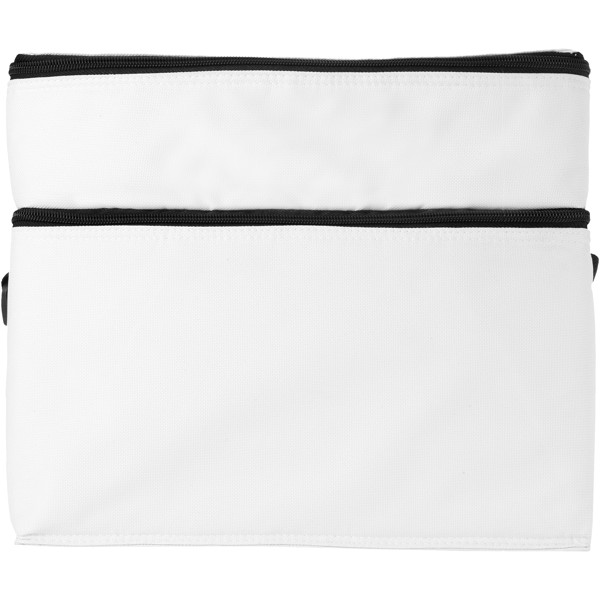 Oslo 2-zippered compartments cooler bag - White