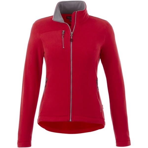 Dámská bunda Pitch z materiálu mikro fleece - Červená s efektem námrazy / S