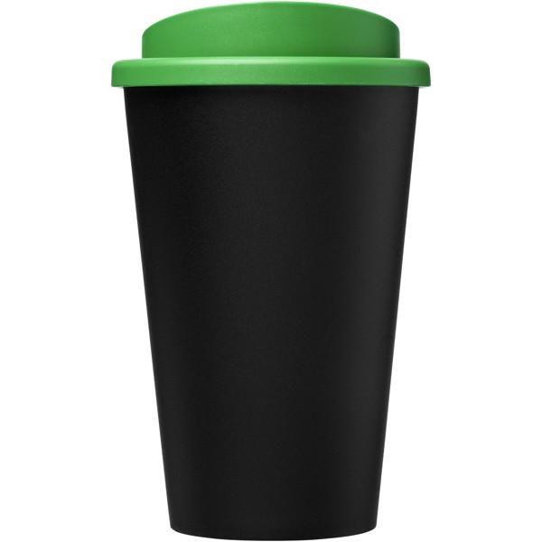 Americano Eco Vaso reciclado de 350 ml - Negro intenso / Verde