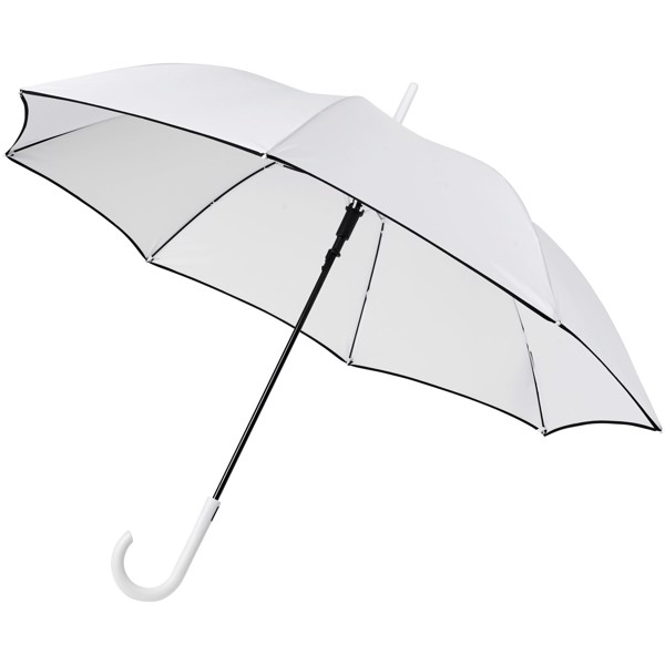 "Kaia 23"" auto open windproof colourized umbrella - White"