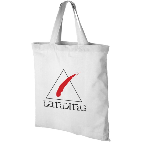 Virginia 100 g/m² cotton tote bag short handles - White