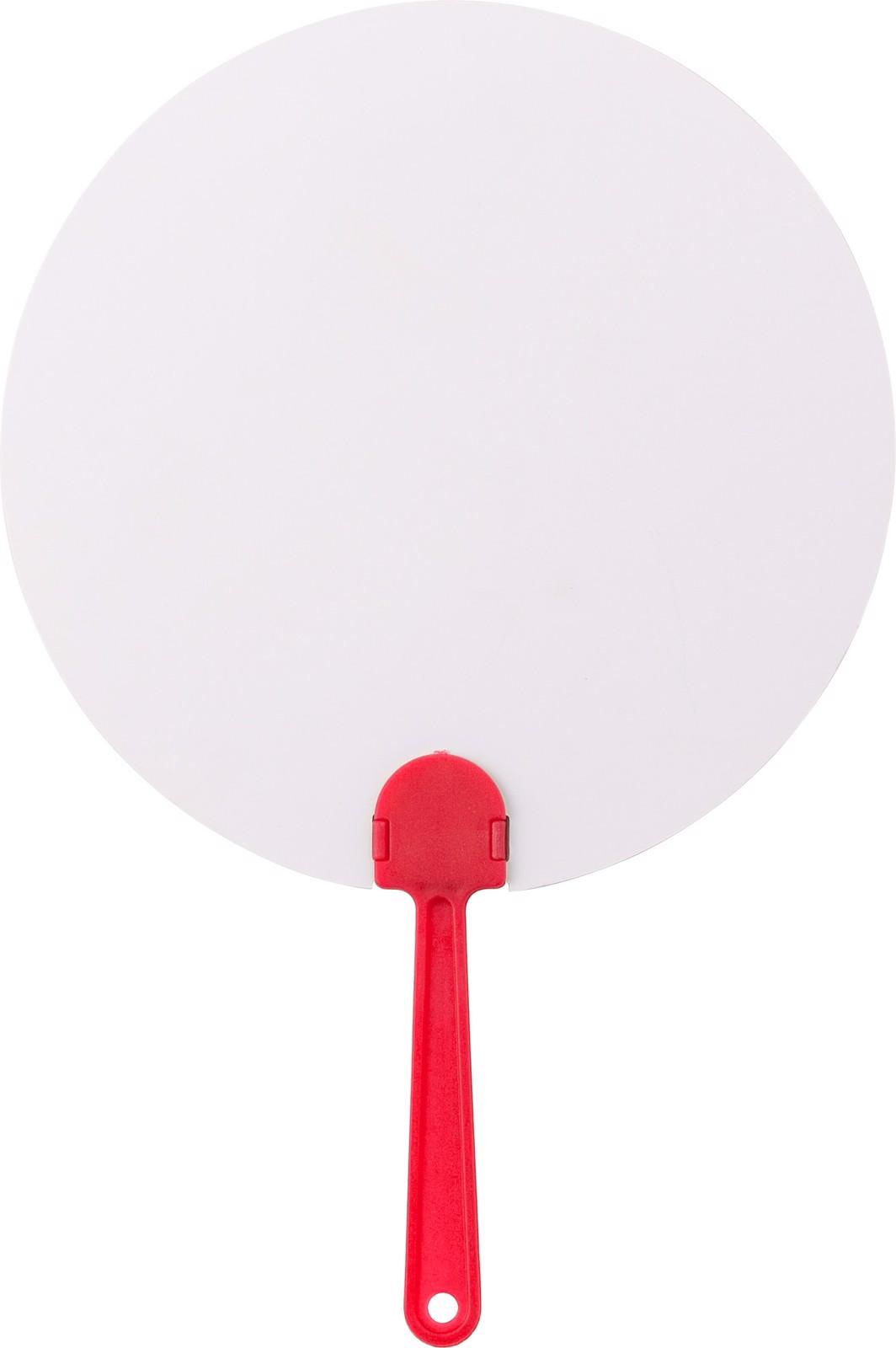 Paper hand fan - Red