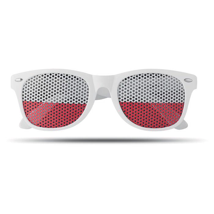 Sunglasses country Flag Fun - White