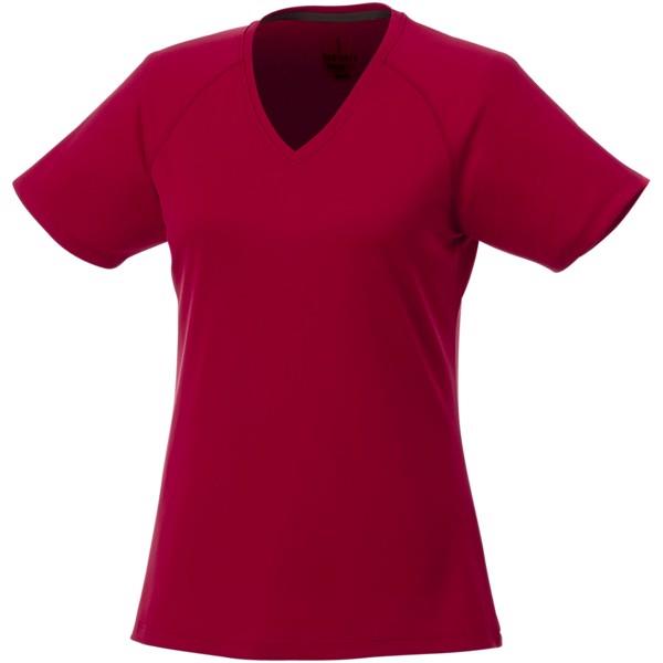 Amery dámské cool fit v-neck tričko s krátkým rukávem - Bílá / XXL