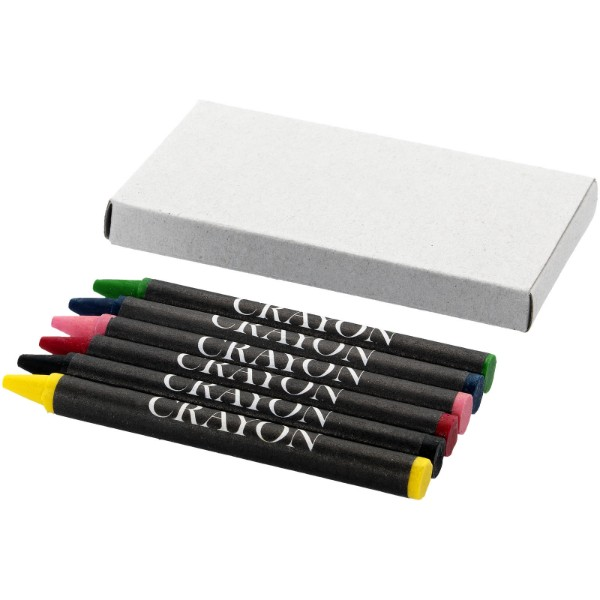 Ayo 6-piece coloured crayon set