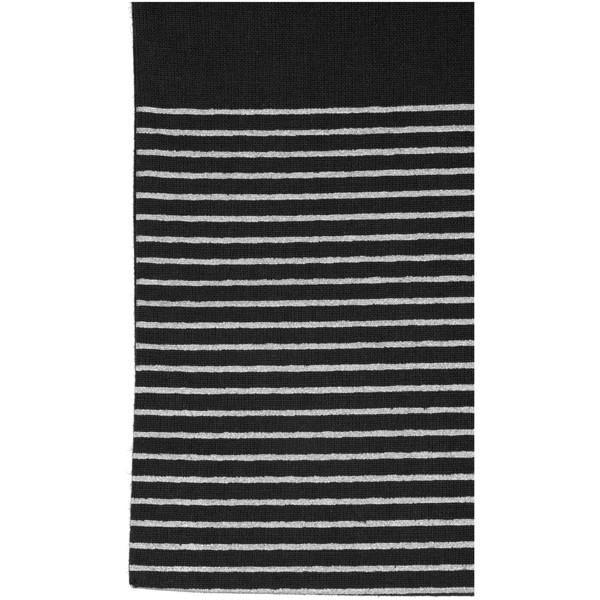 Odnoska Aylin z bavlny 140 g/m² se stříbrnými konturami - Černá