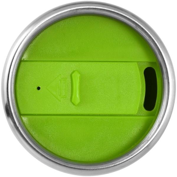 Termohrnek Elwood - Stříbrný / Limetkově zelená