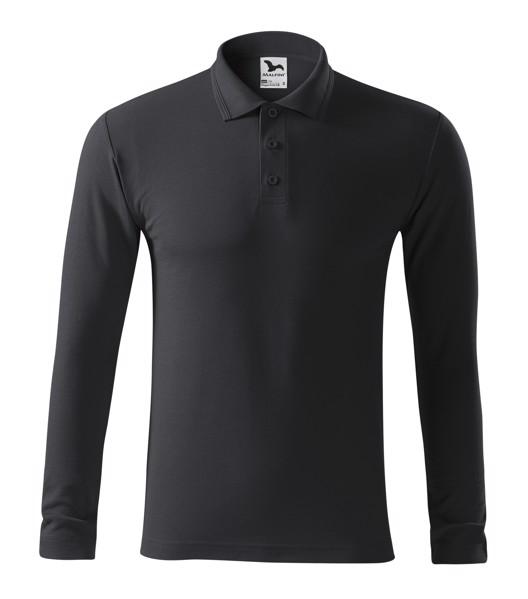 Polo Shirt men's Malfini Pique Polo LS - Ebony Gray / 2XL