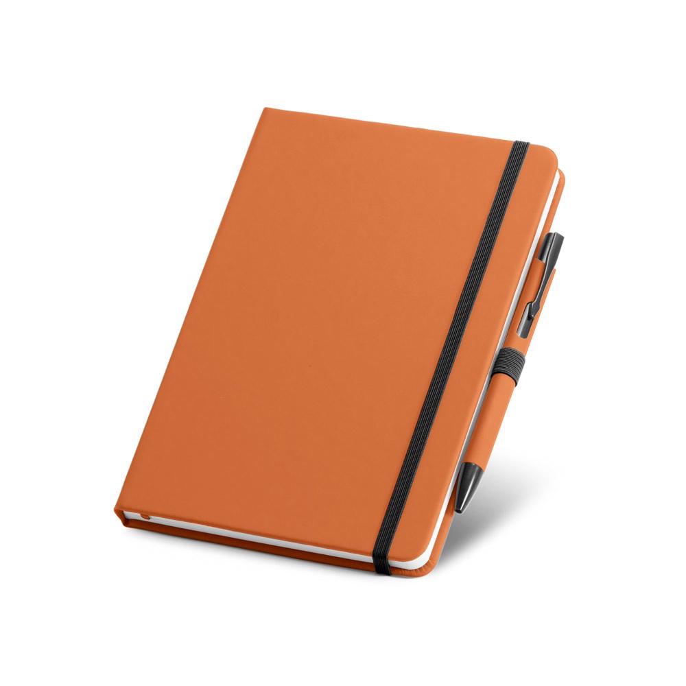 SHAW. Sada kuličkového pera a poznámkového bloku A5 - Oranžová