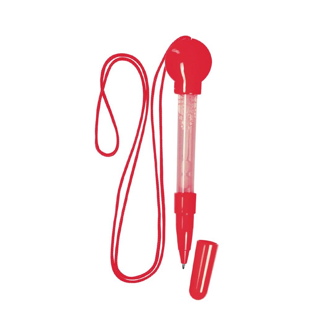 Bolígrafo Pump - Rojo
