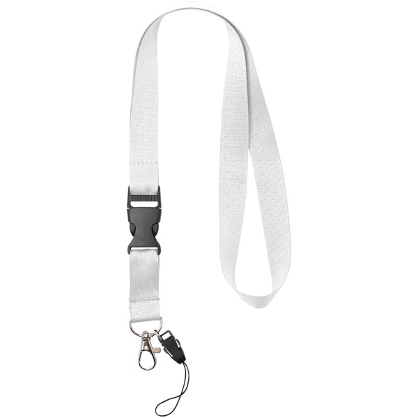 Sagan phone holder lanyard with detachable buckle - White