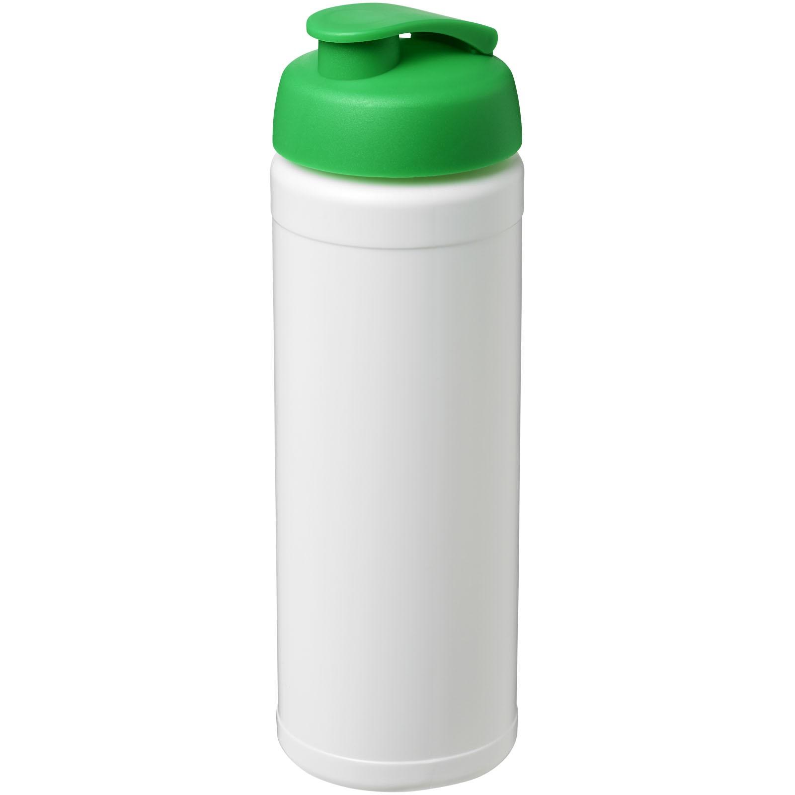 Baseline® Plus 750 ml Flasche mit Klappdeckel - Weiss / Grün