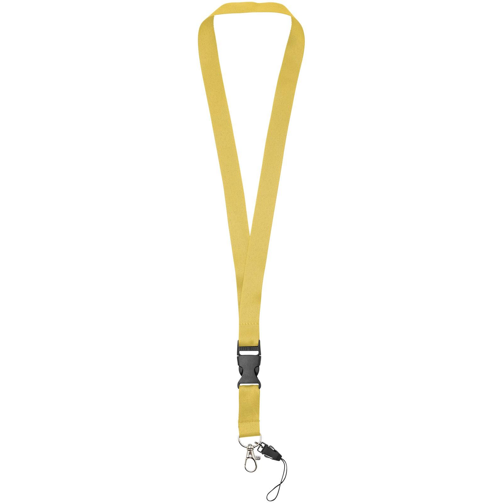 Lanyard na telefon Sagan s odpojitelnou přezkou - Žlutá
